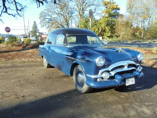 Packard 1953 hearse fr