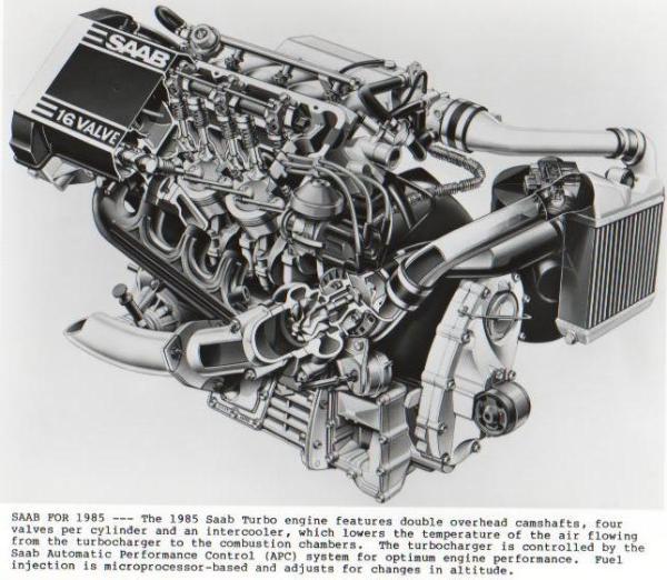 Saab 1985 tuebo engine