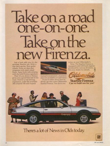 oldsmobile starfire firenza