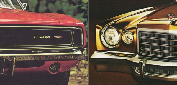 1969 Dodge Charger and 1975 Dodge Charger | Credit:oldcarbrochures.com