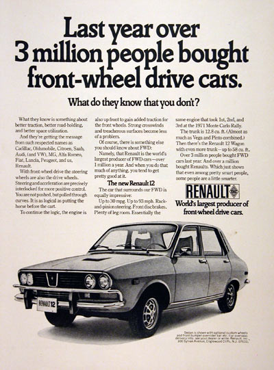 Renault 12 US ad sedan