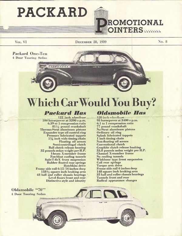 1940 Packard-Oldsmobile Comparison