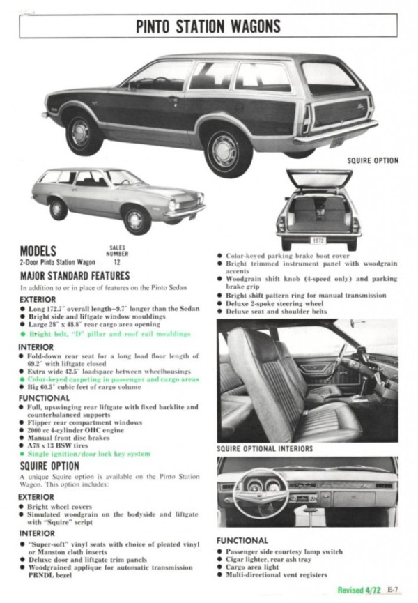 1972 Ford Full Line Sales Data-E09