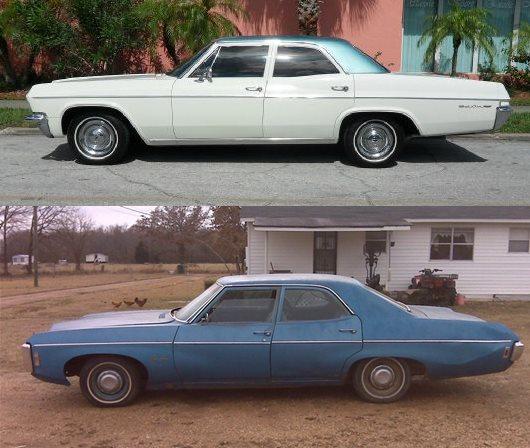 Chevrolet 1965 bel air sedan-vert