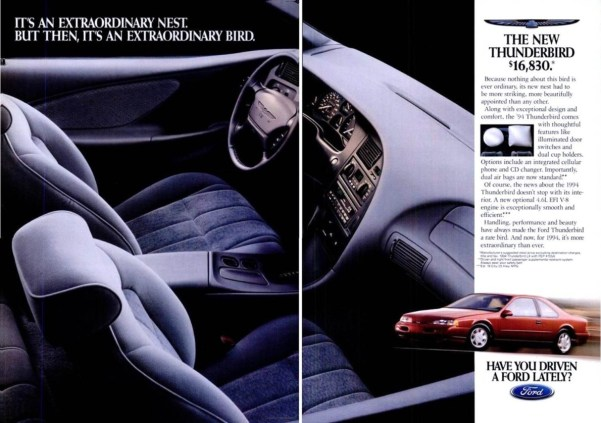 Advertisement for the identical 1994 Thunderbird