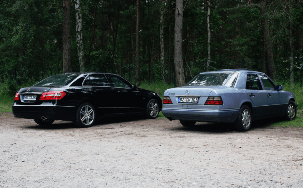 mercedes w124 and w212
