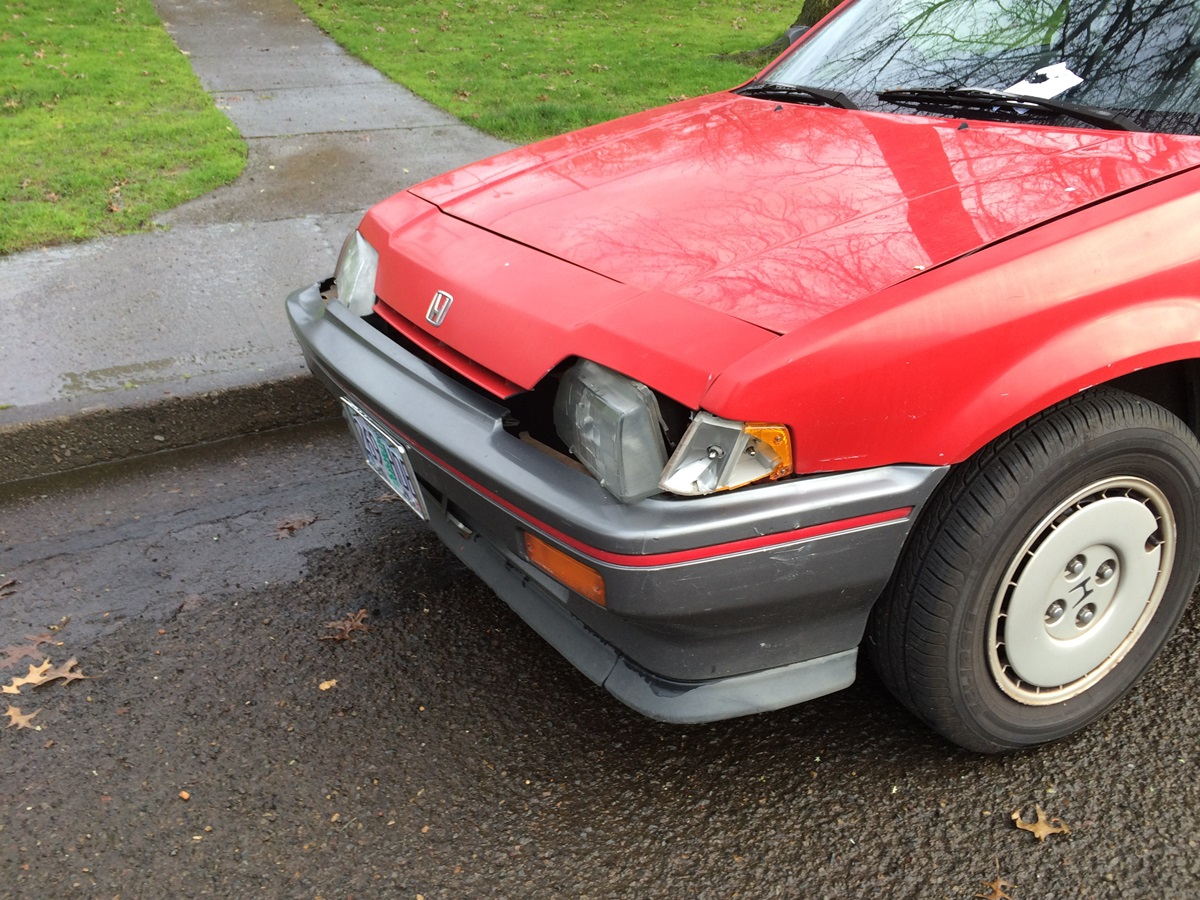 ... front end of this CRX and the note on the windshield. But as best as I can make it out it says \u201cMelanie\u2026I dented your door pulling out Friday night\u2026.\u201d & CC Outtake: Honda CRX \u2013 \u201cMelanie I Dented Your Door Pulling Out ... Pezcame.Com