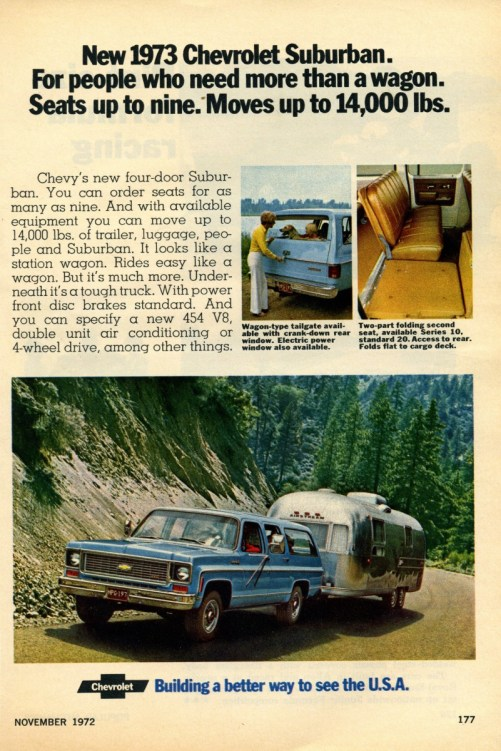 Chevrolet 1973 suburban ad
