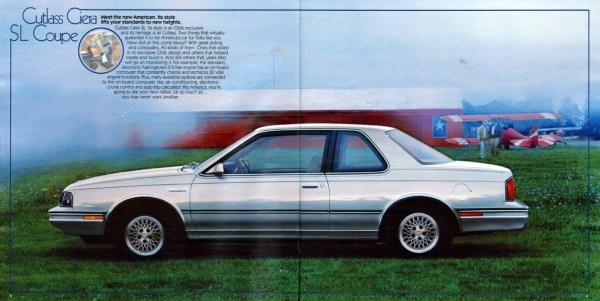 Olds 1986 Ciera SL coupe brochure