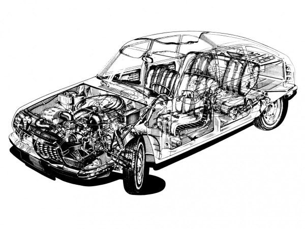 Citroen GS cutaway