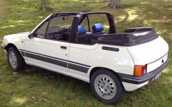1989 Peugeot 205 CL convertible, white bl
