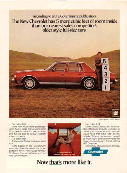 Chevrolet 1977 ad int