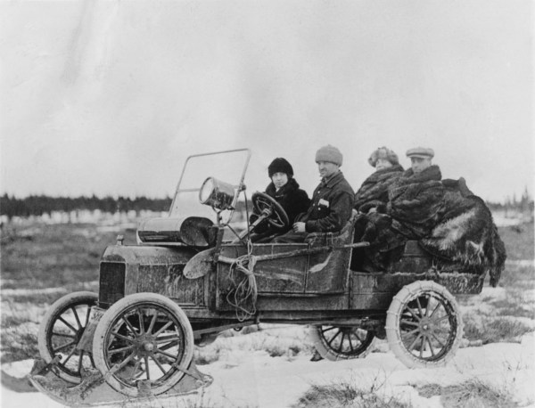 Ford Model T winter