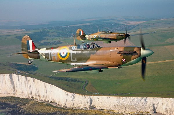 hurricane spitfire dover cliffs