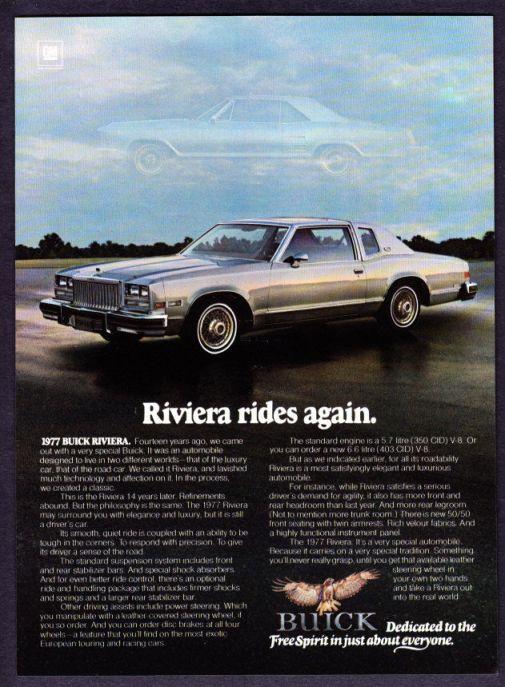 1977 buick riviera ad