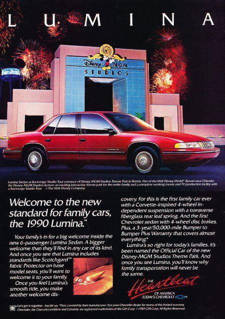 1990 chevrolet lumina ad