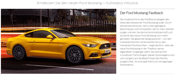 Mustang 2015 german brochure