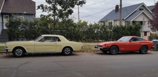 Mustang and Z car