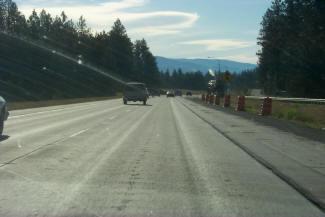studded tires damaged-pavement-I-90_Idaho_2