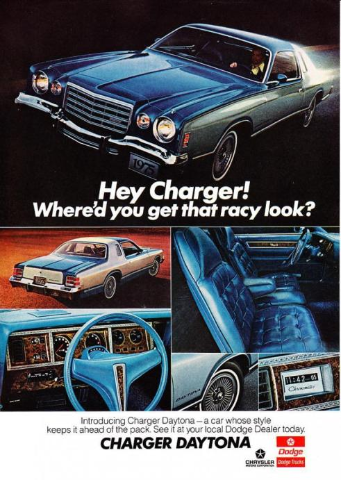 1975 dodge charger daytona ad