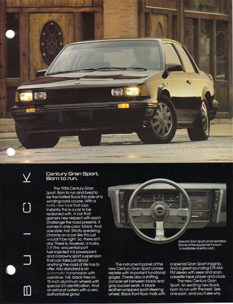 1986 buick century gran sport advertisement
