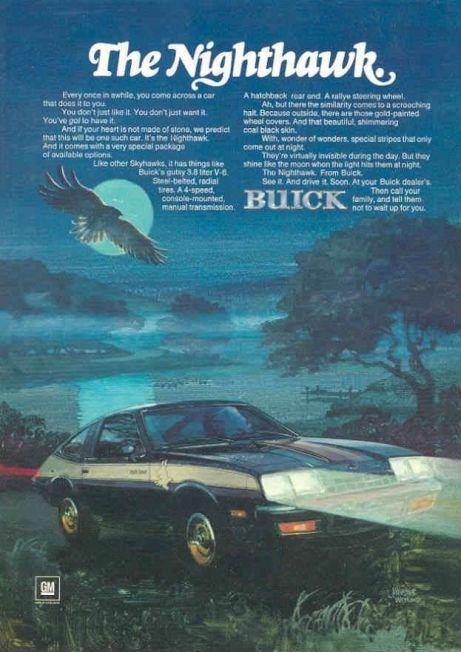 buick skyhawk nighthawk