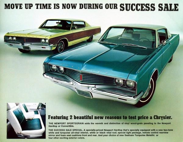 chrysler newport sportsgrain print ad