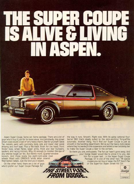 1978 dodge aspen super coupe ad