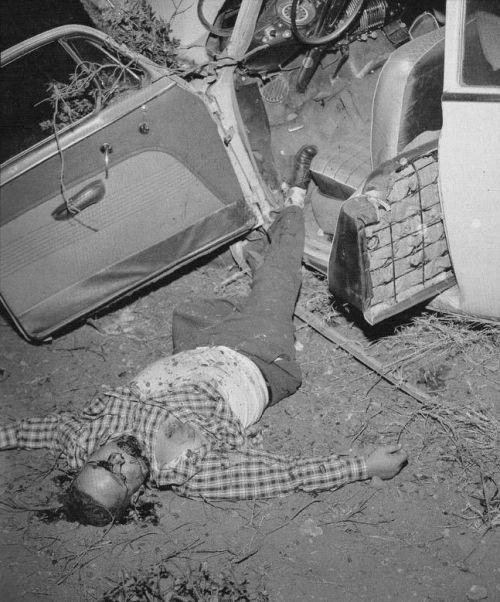 Car crash 1950s