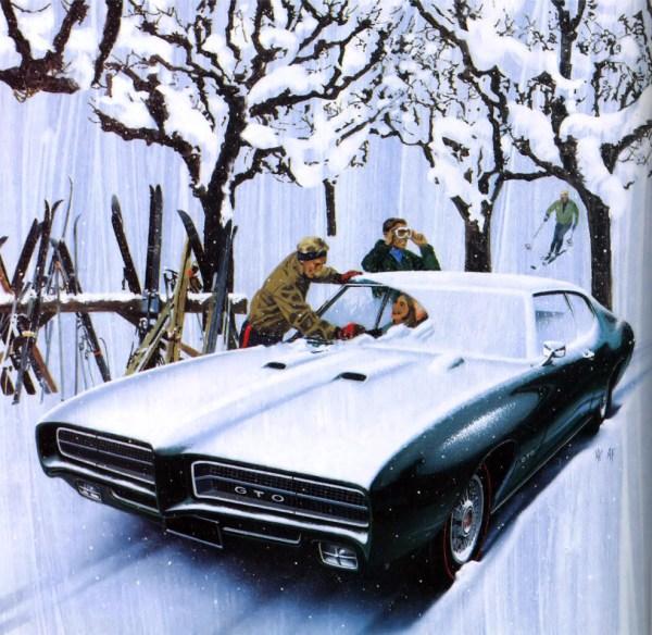 FK GTO 1969 snow