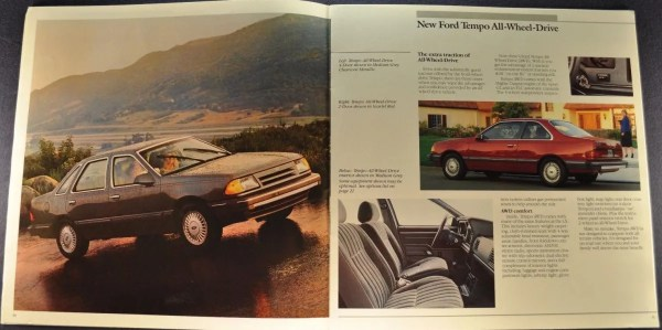 1987 ford tempo awd brochure