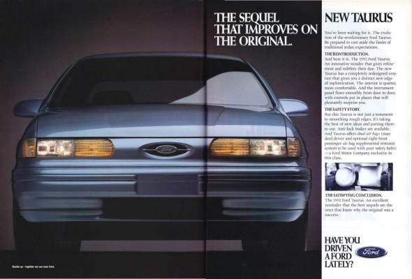 1992 Taurus Ad