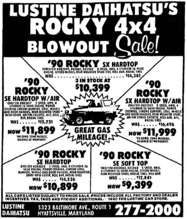 Ad 1990 Rocky Dealer 10