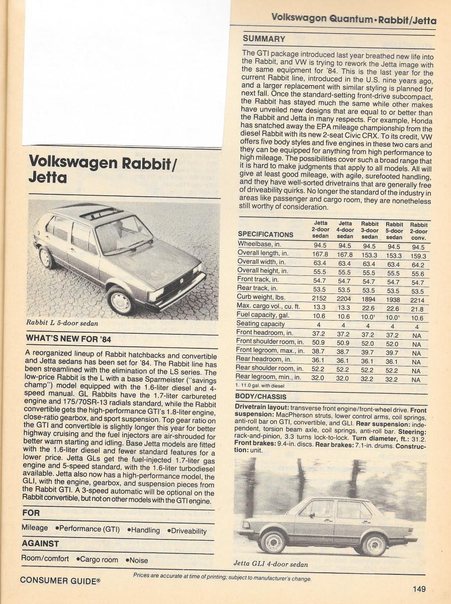 Vintage Review: 1984 Compact Sedans – Consumer Guide Auto Series ...