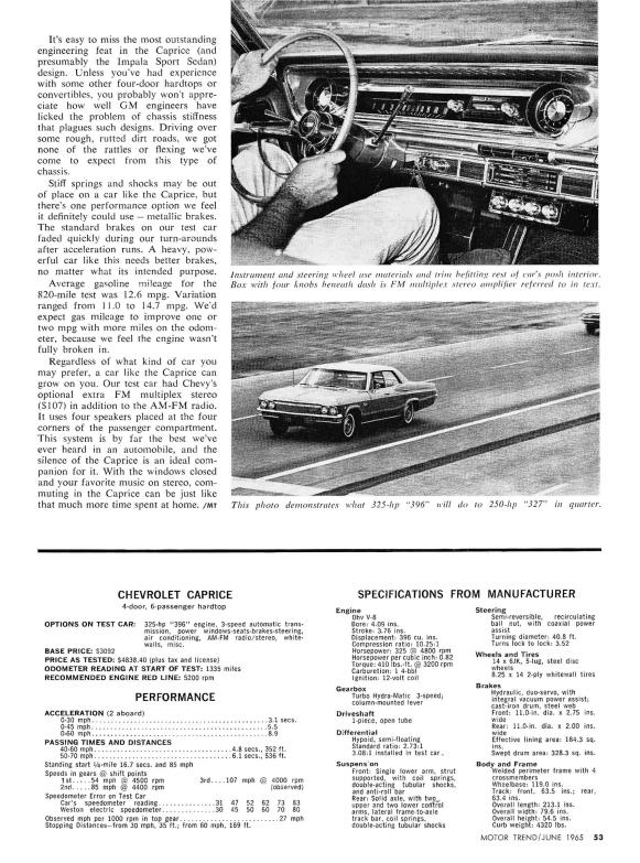 Chevrolet 1965 Caprice MT 6