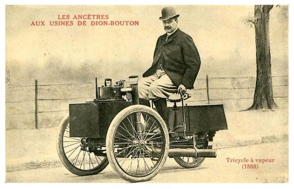 De Dion Bouton steam trike 1888