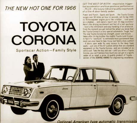 Toyota 1966 corona ad