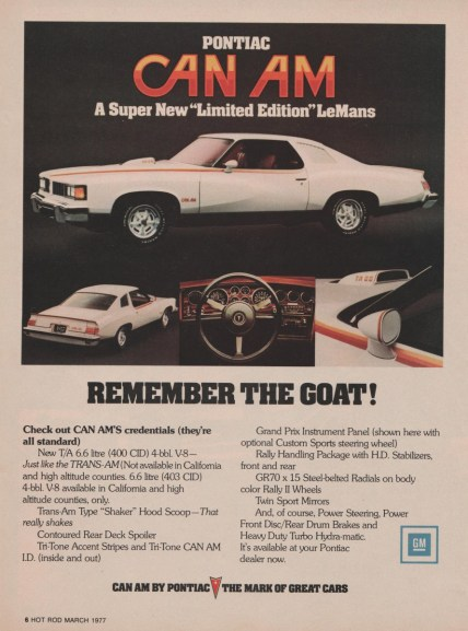 1977 pontiac can am ad