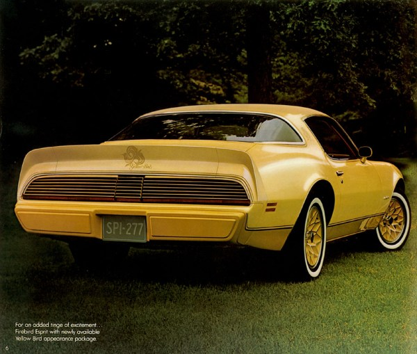1980 pontiac firebird yellow bird