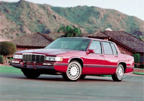1993 Cadillac de Ville red