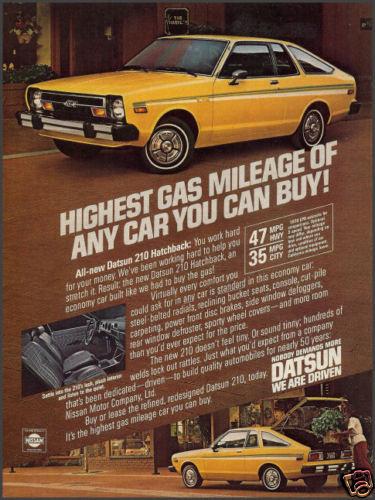 Datsun 210 coupe ad