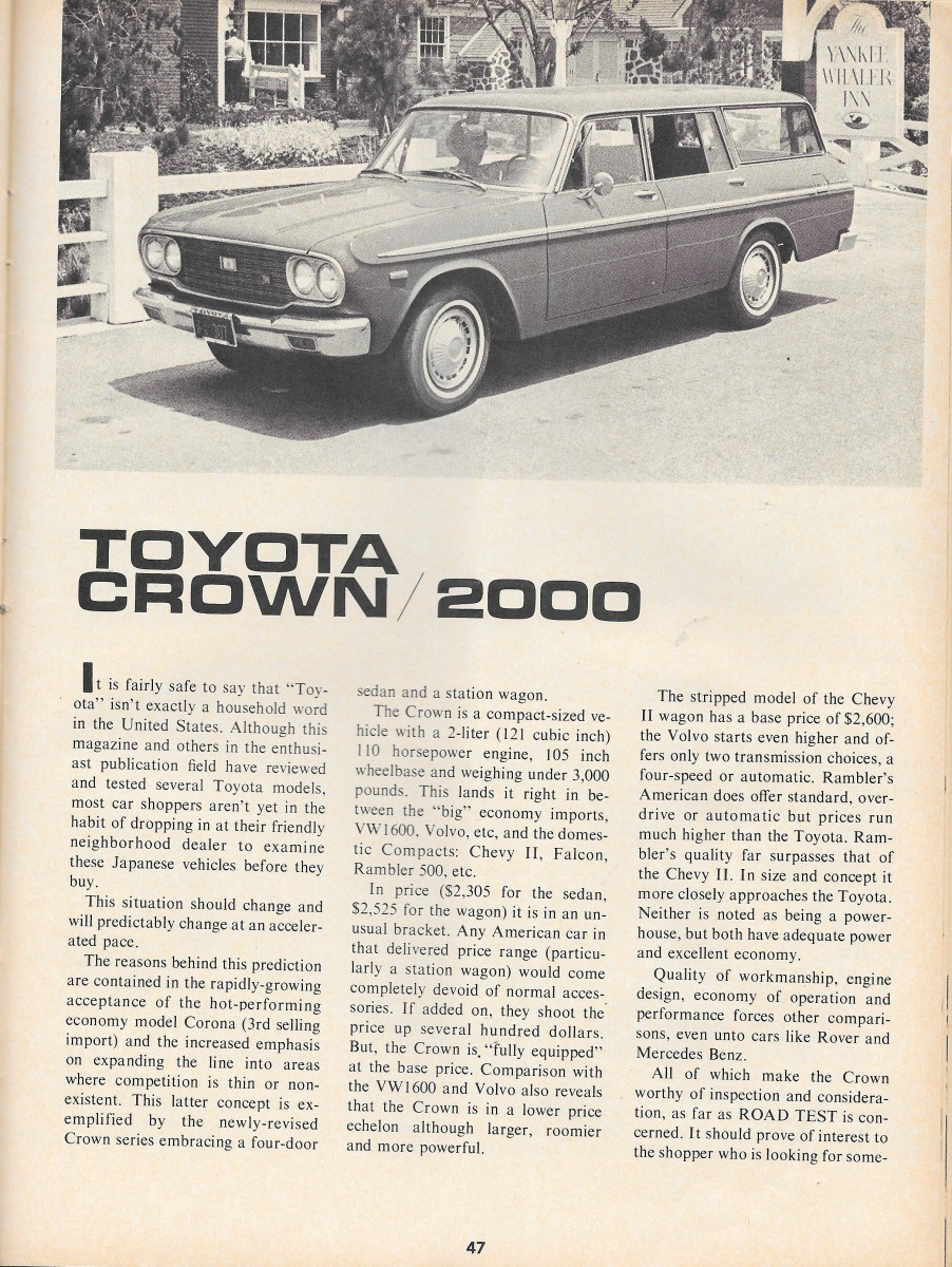 Vintage Review: 1965 – 1970 Toyota Crown – You Can't Always Get