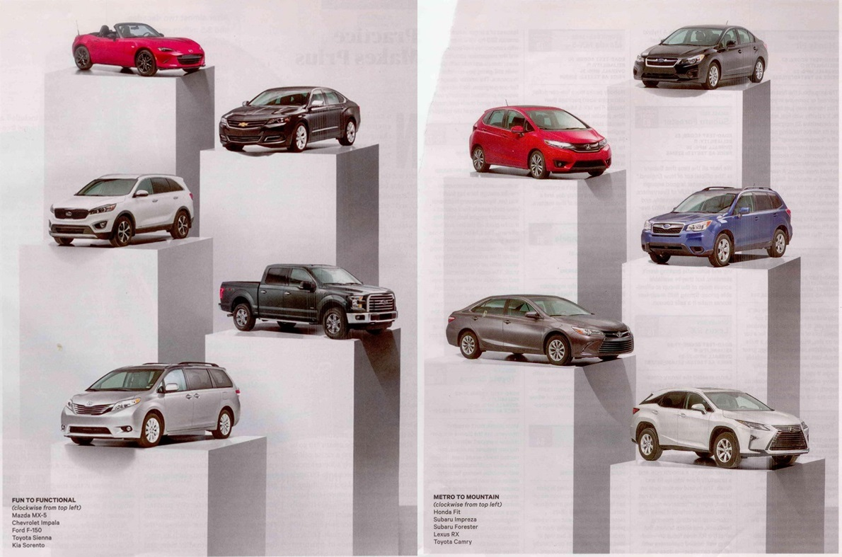 Consumer Reports  Car Issue Top Ten Picks Most And Least Reliable And Road Test Standouts