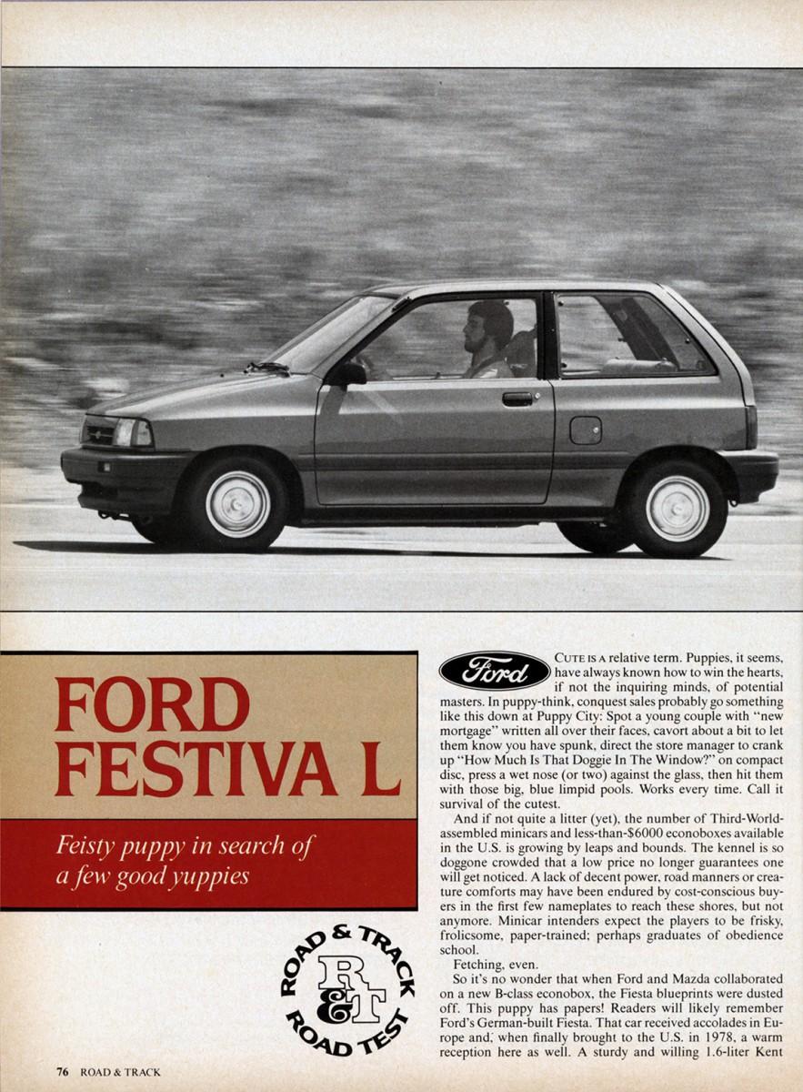 Vintage Road Test Ford Festiva L