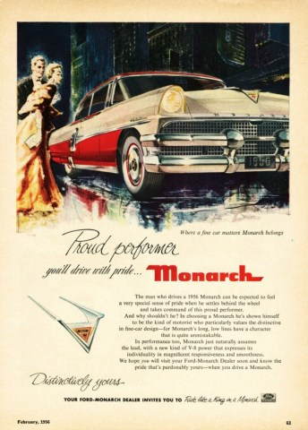 1956 Monarch Ad