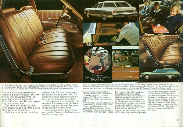 1975 Oldsmobile Custom Cruiser wagon brochure CC