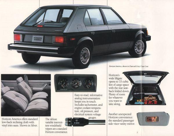 1988 Plymouth Horizon America brochure