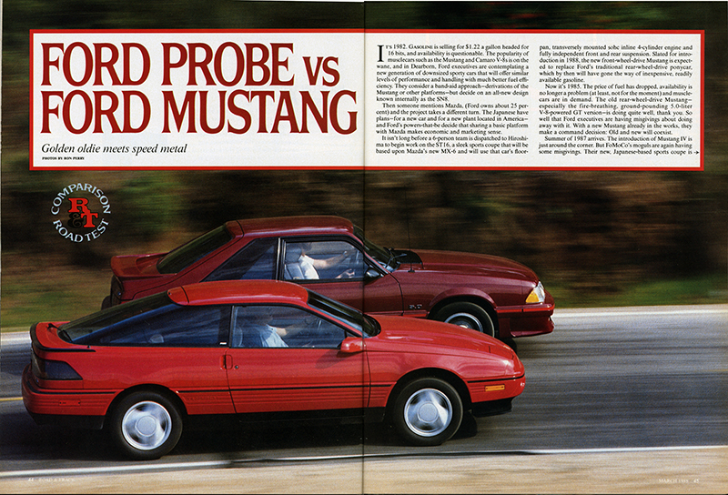 Vintage Road Test Ford Probe Vs Mustang