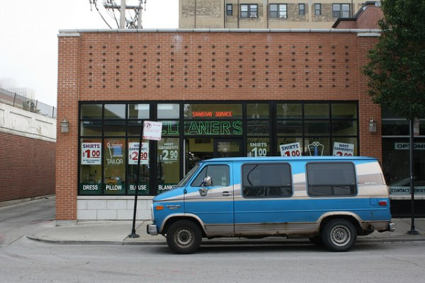 Chevy Van, blue 1