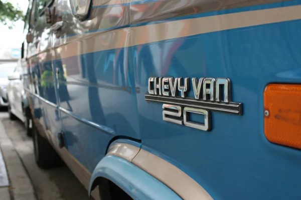 Chevy Van, blue 2